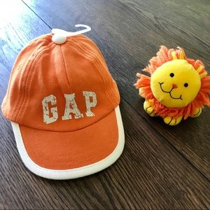 3/$25 NWT Orange Baby Gap Logo Baseball Cap 0-6m